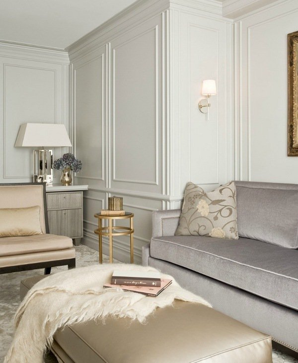 picture-frame-moulding-wall-decorating-ideas-elegant-living-room ...